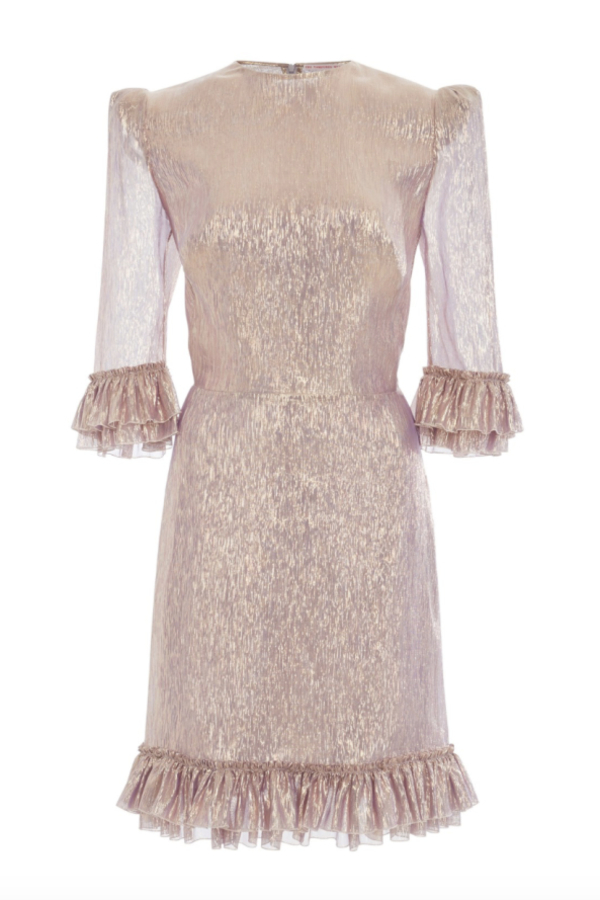 The Vampire's Wife Metallic Mini Dress 2