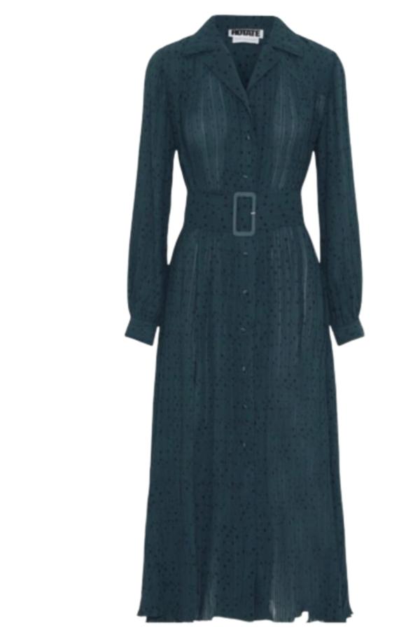 Rotate Pleated Midi Dress