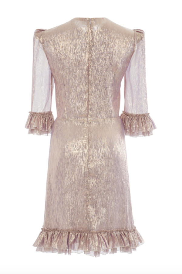 The Vampire's Wife Metallic Mini Dress 3