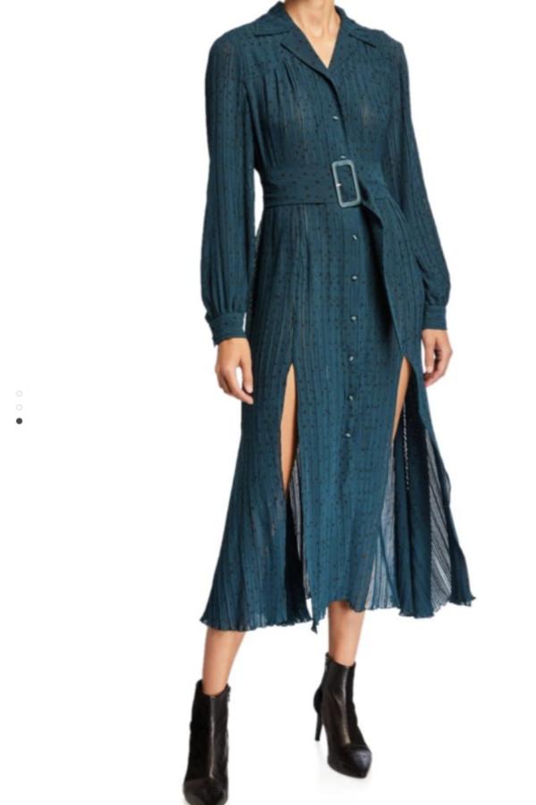 Rotate Pleated Midi Dress 2