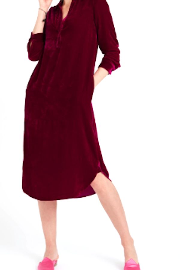 NRBY Chrissie Velvet Shirt Dress 5 Preview Images