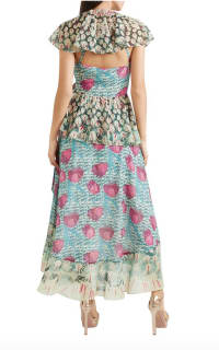 Temperley London Ruffled printed jacquard midi wrap dress 3 Preview Images