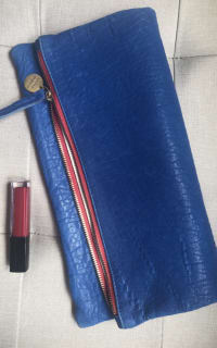 Clare V. Blue and red clutch 8 Preview Images