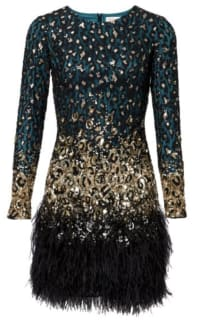 Matthew Williamson Jade Leopard Lace Dress Preview Images