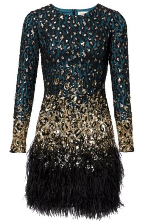 Matthew Williamson Jade Leopard Lace Dress