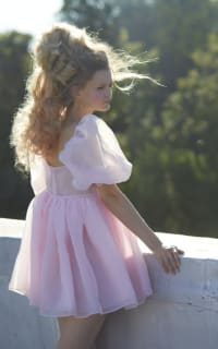 Selkie Pink Puff Mini Dress 5 Preview Images