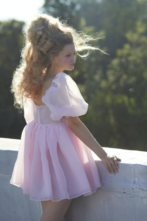 Selkie Pink Puff Mini Dress 5