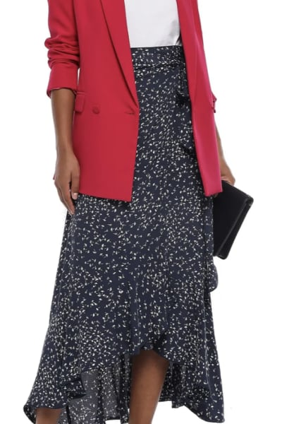 Ganni Barra floral-print crepe skirt 3