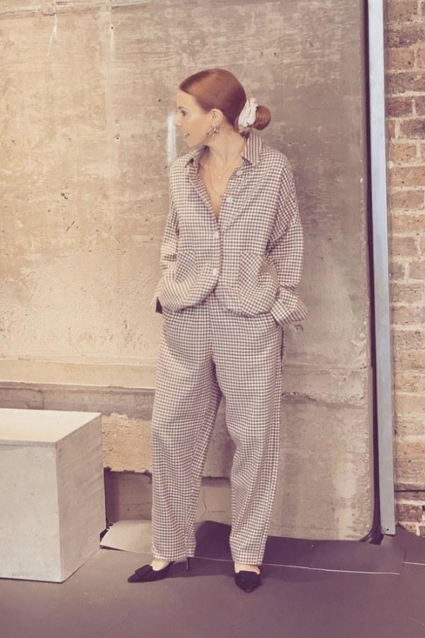 Image 5 of Rita Row check cotton shirt