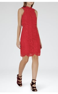 Reiss Sophia Lace Overlay Dress 2 Preview Images