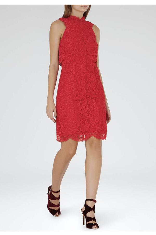 Reiss Sophia Lace Overlay Dress 2