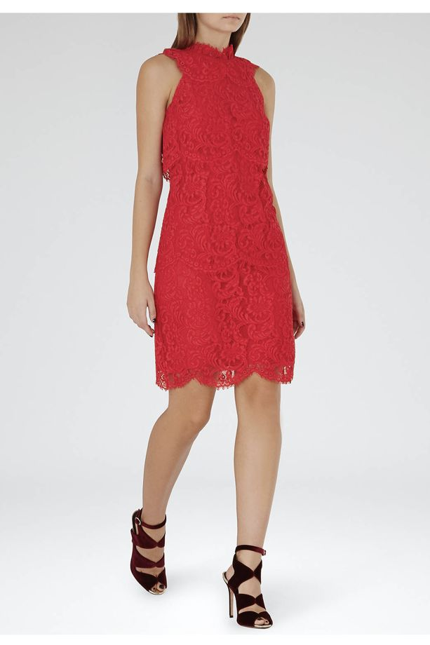 Reiss Sophia Lace Overlay Dress 2