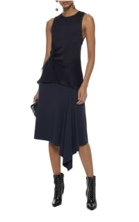 3.1 Phillip Lim Feather-trimmed studded silk crepe de chine top 2 Preview Images