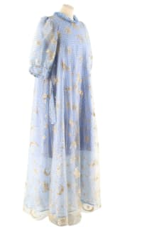 Manoush Blue gingham 'Vichy Star' Dress 3 Preview Images