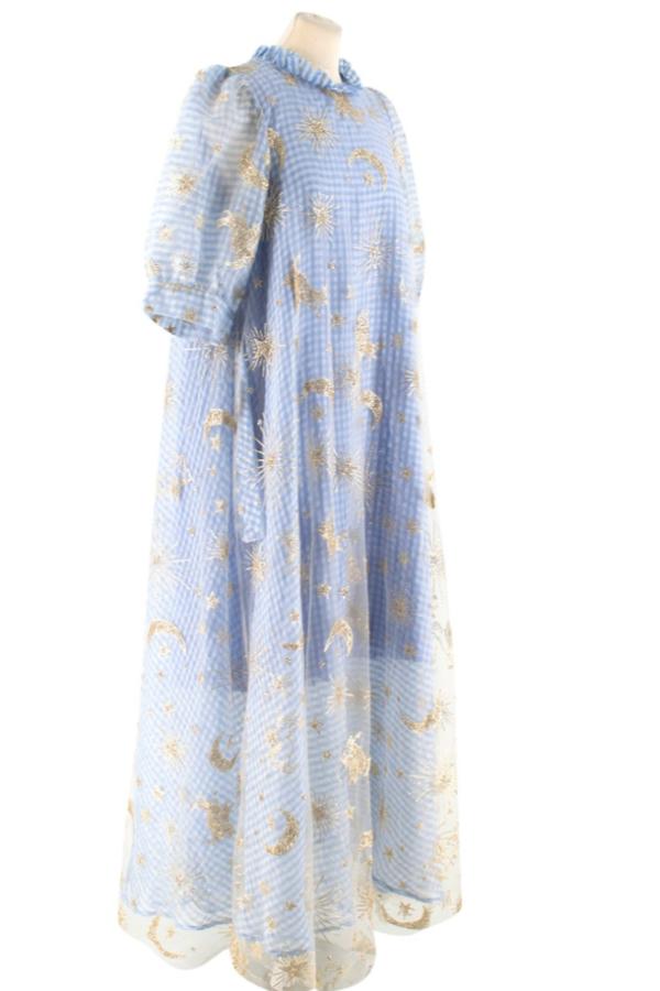 Manoush Blue gingham 'Vichy Star' Dress 3