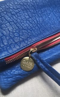 Clare V. Blue and red clutch 9 Preview Images