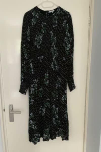 Ganni Rometty Floral Print Georgette Smocked Midi Dress 2