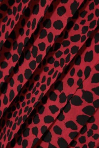 RIXO London Leopard pleat midi skirt 3