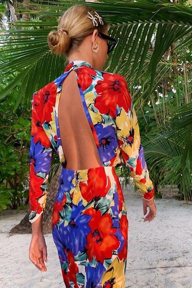 RIXO London Lucy open-back floral-print silk crepe de chine dress Preview Images