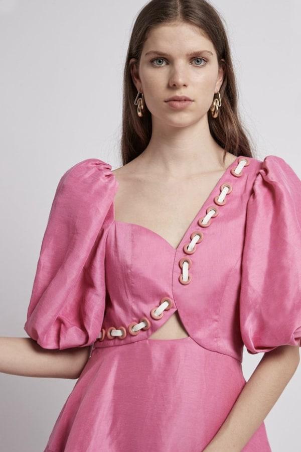 Image 4 of Aje coda eyelet midi dress