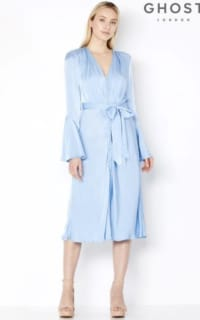 Ghost Blue Satin Dress 2 Preview Images