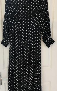 RIXO London Polka Dot Silk Dress 3 Preview Images