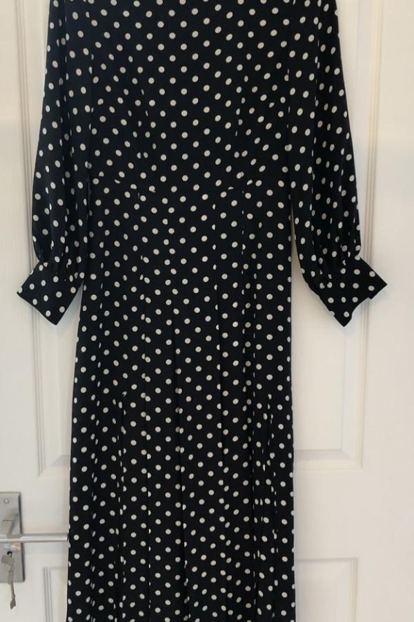RIXO London Polka Dot Silk Dress 3