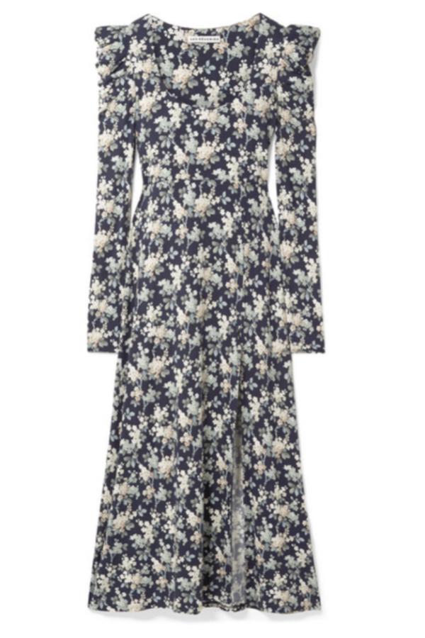Les Rêveries Floral Midi Dress