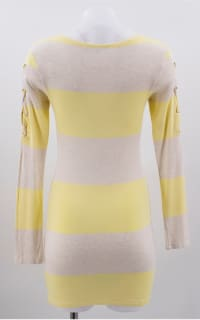 Melissa Odabash Yellow Maddie Striped-knit Mini Dress 4 Preview Images