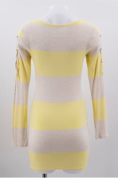 Melissa Odabash Yellow Maddie Striped-knit Mini Dress 4