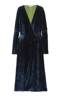 The Attico Midnight crushed velvet dress Preview Images