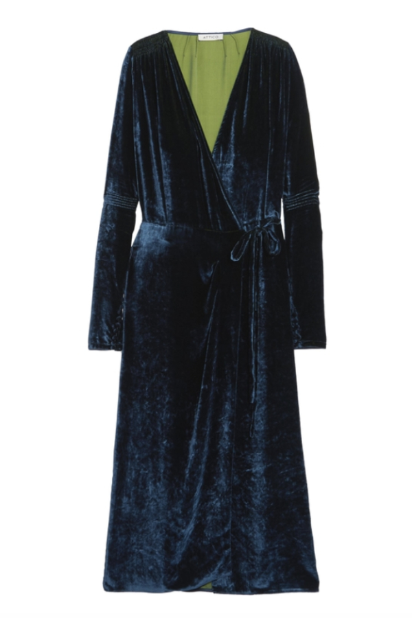 The Attico Midnight crushed velvet dress