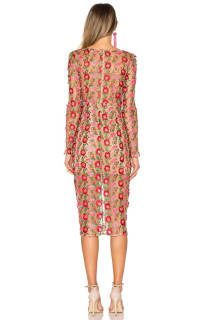 For Love and Lemons Amelia Textured Midi Dress 2 Preview Images
