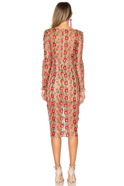 For Love and Lemons Amelia Textured Midi Dress 2