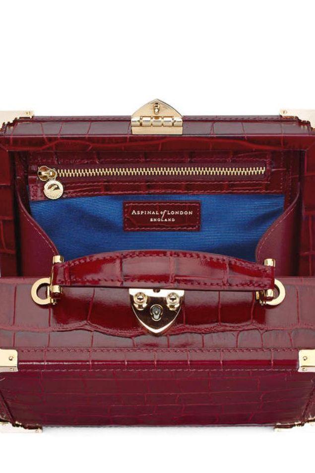 Aspinal of London Bordeaux trunk bag 3 Preview Images