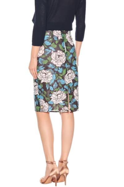 Diane Von Furstenberg Floral sequinned skirt 3