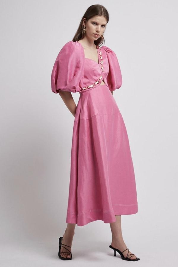Image 3 of Aje coda eyelet midi dress