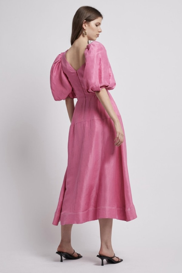 Image 5 of Aje coda eyelet midi dress