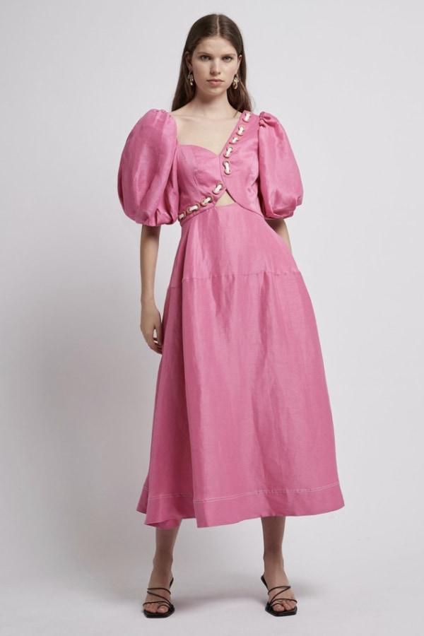 Image 2 of Aje coda eyelet midi dress