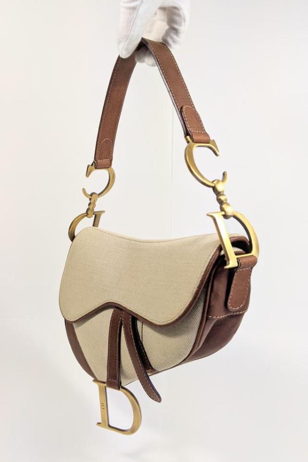 Christian Dior Canvas Saddle Bag  4