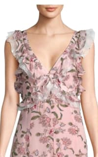 For Love and Lemons Bee Balm Floral Maxi Dress 4 Preview Images