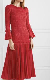 Khaite Pleated cotton-poplin dress 3 Preview Images