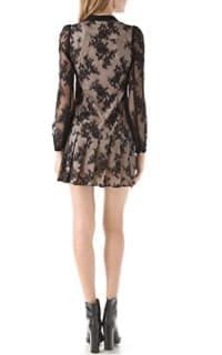 Alexander McQueen Drop Waist Pleat Dress 3 Preview Images