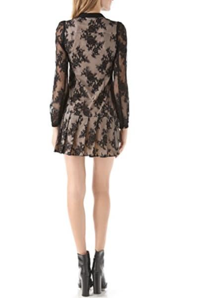 Alexander McQueen Drop Waist Pleat Dress 3
