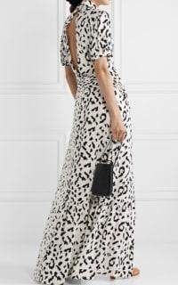 Self Portrait Open-back ruched leopard dress 2 Preview Images