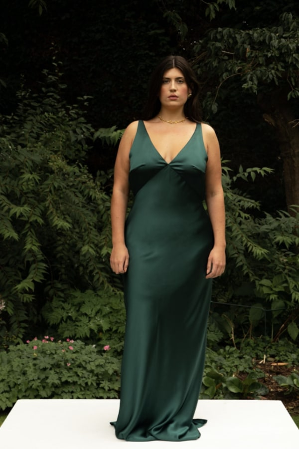 Image 1 of The Own Studio wide strap bias dress