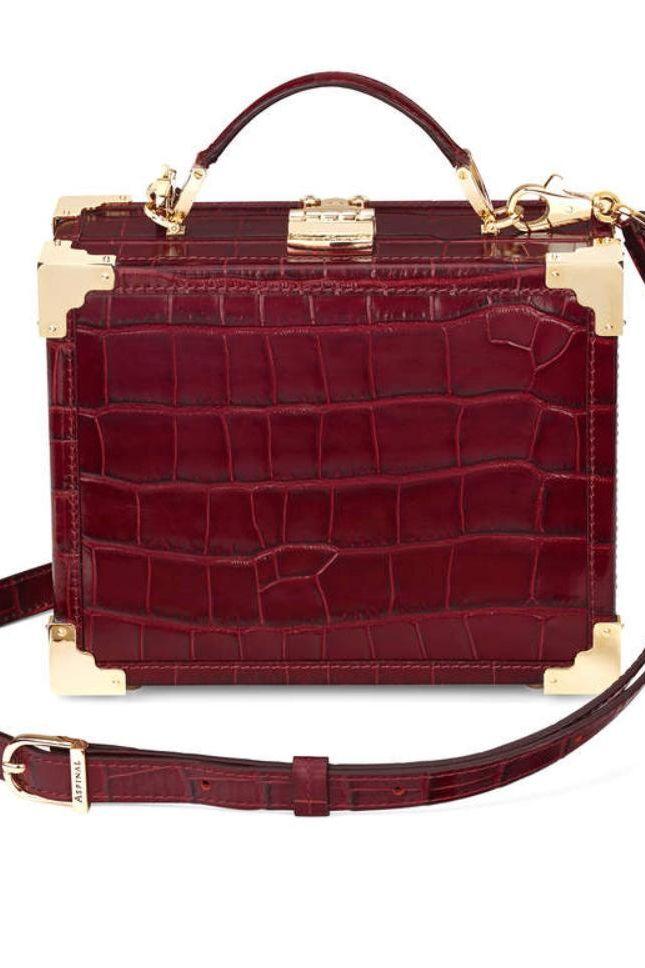 Aspinal of London Bordeaux trunk bag 5 Preview Images