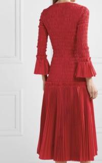 Khaite Pleated cotton-poplin dress 4 Preview Images