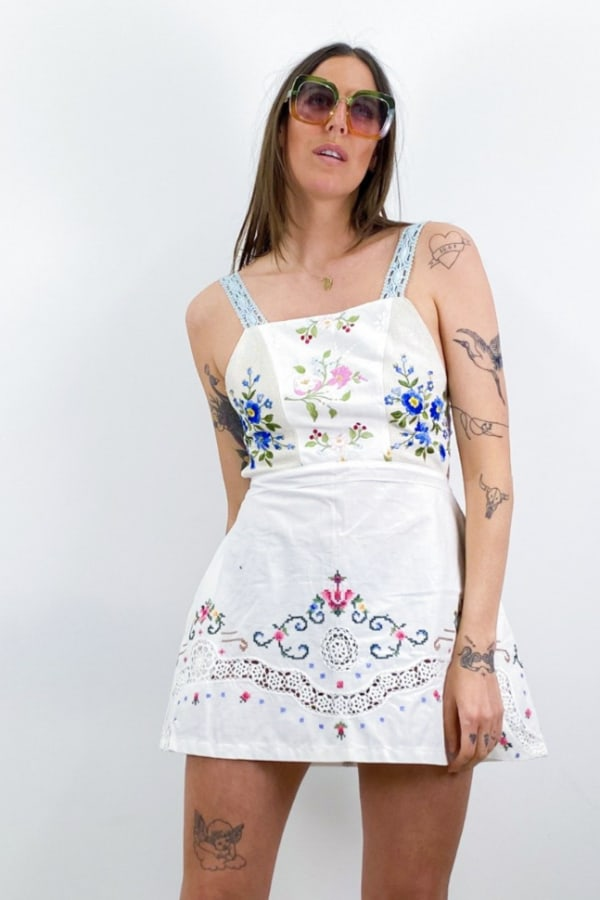 Image 2 of Magpie Vintage backless mini dress