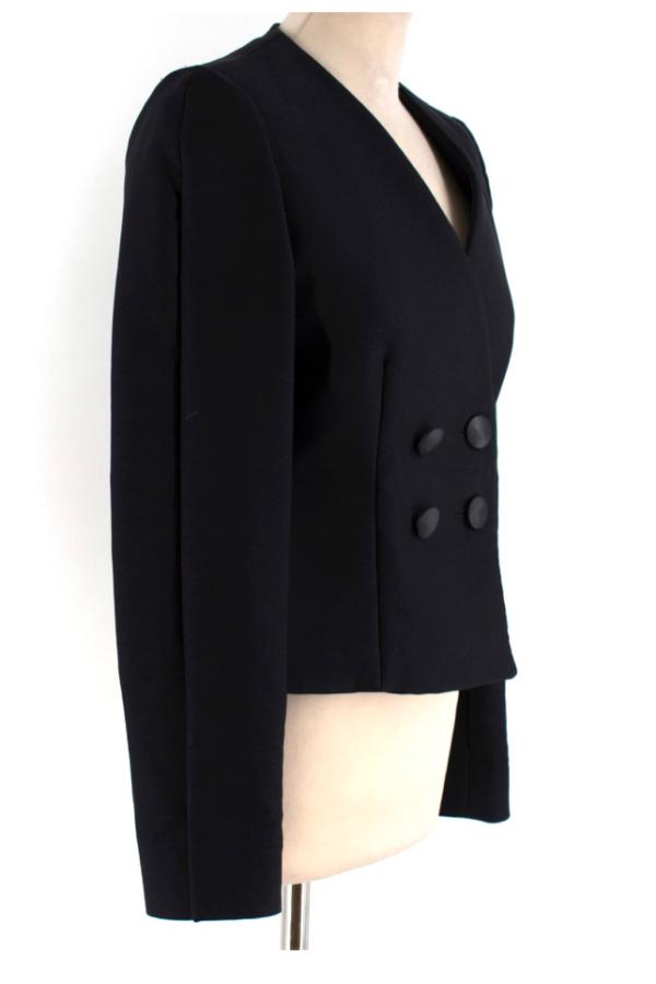 Stella McCartney Collarless Black Blazer 2